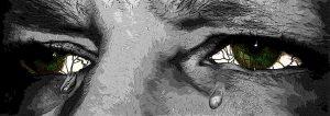 załzawione oczy